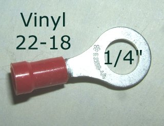 "EL 125 / 50pcs. - 1/4"" Red Eyelet"
