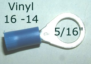 "EL 130 / 50pcs. - 5/16"" Blue Eyelet"