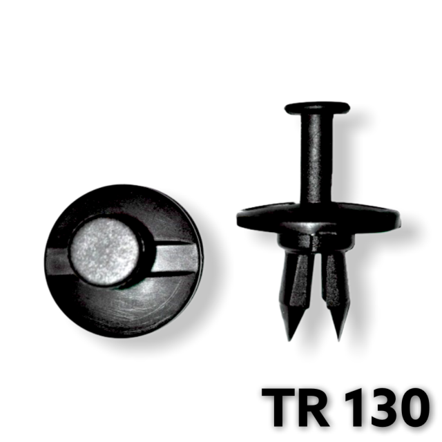 "TR130 - 25 or 100 / GM Fascia Push Type Retainer (1/2"" Hole)"