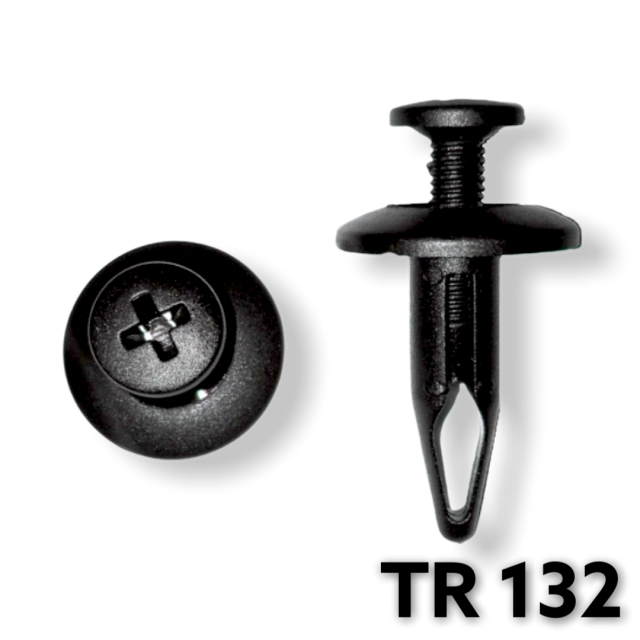 "TR132 - 25 or 100 / Ford Radiator Shroud Push Type Retainer (1/4"" Hole)"