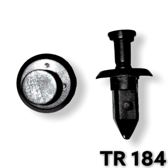 TR184 - 25 or 100 / GM Front Bumper Fascia Push Type Retainer (10mm Hole)