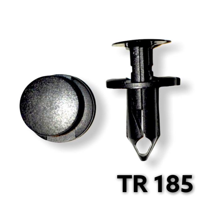 "TR185 - 25 or 100 / GM Air Baffle Push Type Retainer (5/16"" Hole)"