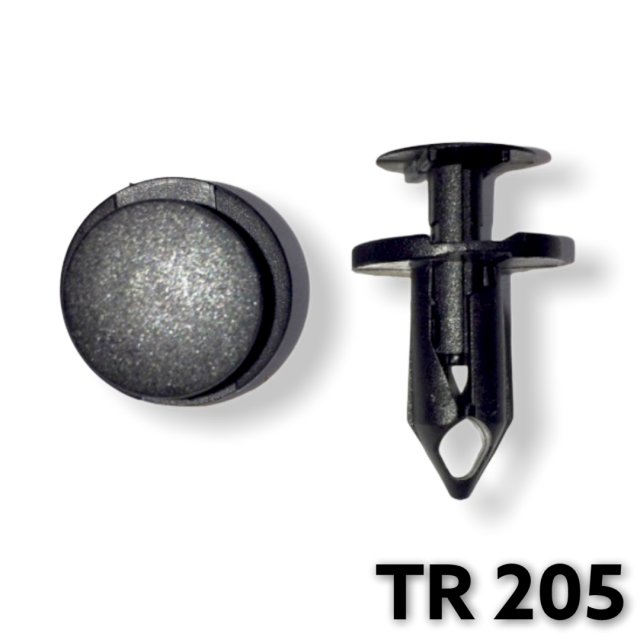 "TR205 - 25 or 100 / GM Rocker Panel Push Type Retainer (5/16"" Hole)"