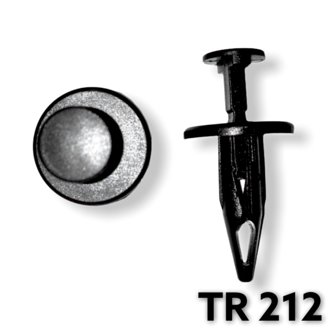 "TR212 - 25 or 100 / Chrysler Push Type Retainer (1/4"" Hole)"