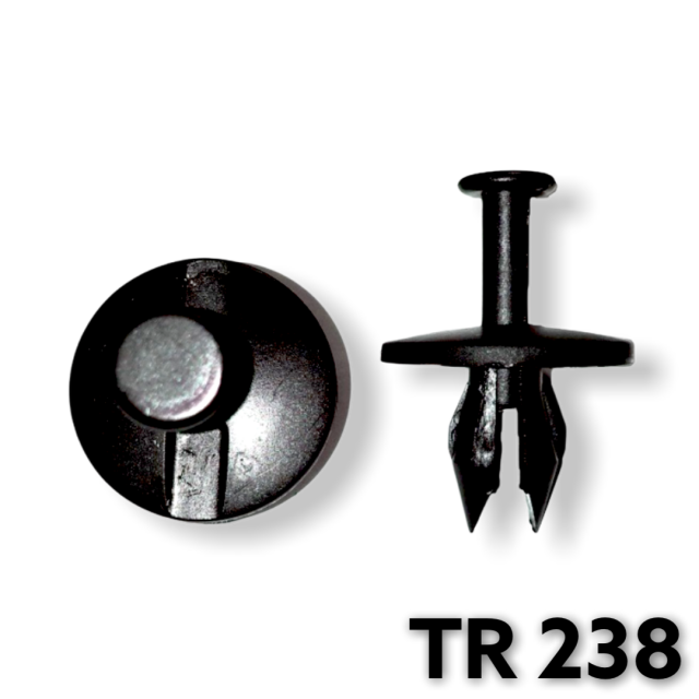 "TR238 - 25 or 100 / GM Fascia Push Type Retainer (3/8"" Hole)"
