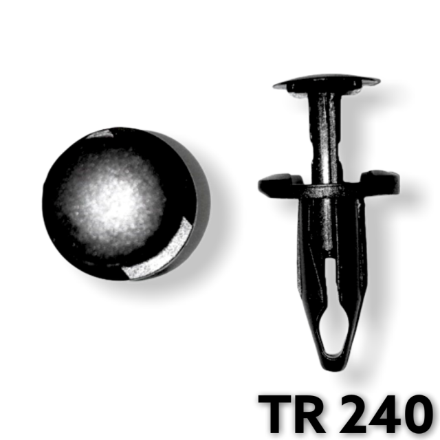 "TR240 - 25 or 100 / GM,Ford,Chrysler Wheel Opening Moulding Retainer (1/4""/ 6.4mm Hole)"