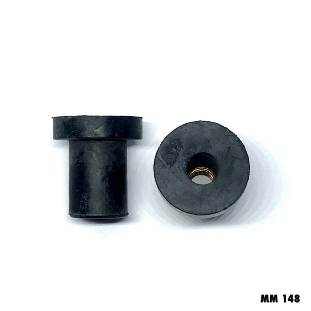 MM148 - 10 -40pcs. / 6mm  Rubber Well Nut,