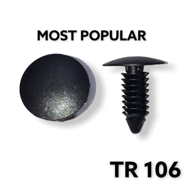"TR106 - 100 or 500 / MOST POPULAR / Fender & Bumper Shield Retainer (1/4"" Hole 3/4"" Length)"