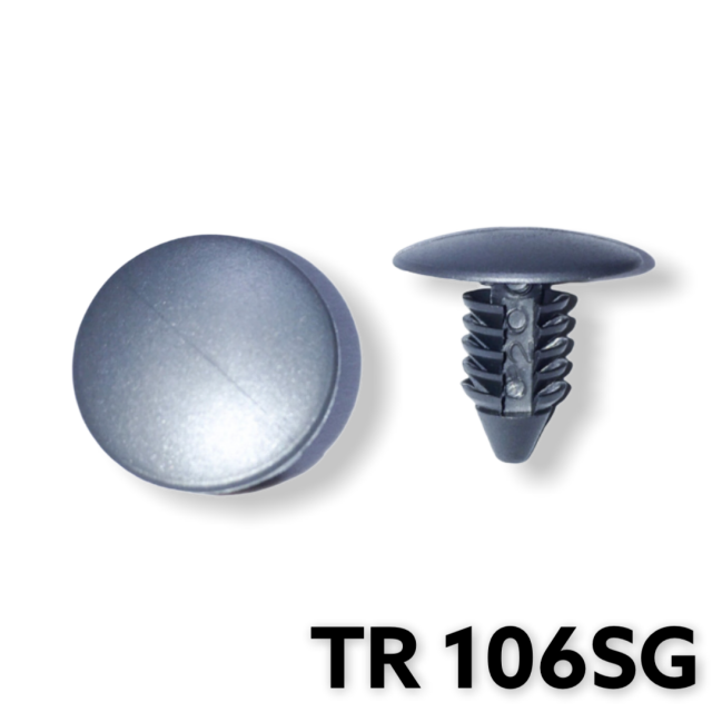 "TR106SG -50 or 200   / Grey Fender & Bumper Shield Retainer (1/4"" Hole)"