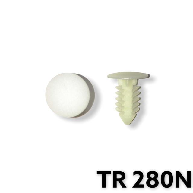 "TR280N - 100 or 500 / Natural Color Universal Trim Clip (1/4"" Hole)"