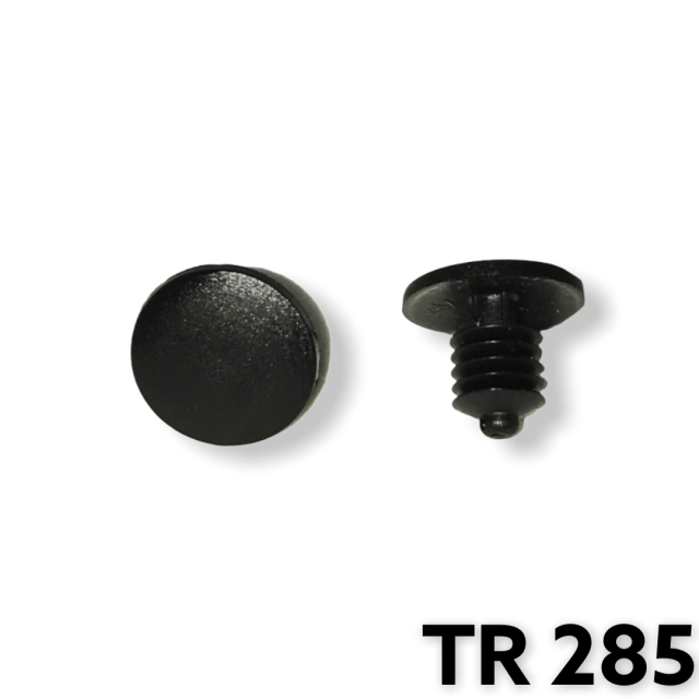 "TR285- 25 or 100 / Weatherstrip Ret. (3/16"" Hole"