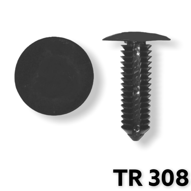 "TR308 -25 or 100pcs  / Bumper Fascia Retainer (3/4"" Head)"