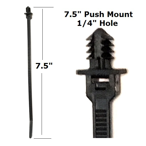"EL 146 - 25 or 100 / 7.5"" Xmas Tree Push Mount Tie Strap"