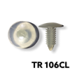 "TR106CL - 100 or 500 / Clear Nylon Shield Retainer (1/4"" Hole)"