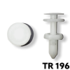 "TR196 - 25 or 100 / Door Trim Push Type Ret. (1/4"" Hole)"